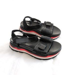 Zara Black Sporty Platform Sandals